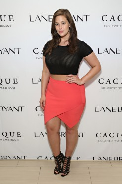 NEW YORK, NY - APRIL 06: Model Ashley Graham attends as Lane Bryant celebrates the launch of their campaign #ImNoAngel on April 6, 2015 in New York City. (Photo by Cindy Ord/Getty Images for #ImNoAngel Cacique Exclusively For Lane Bryant)